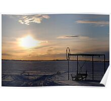 Winter Sunsets Poster
