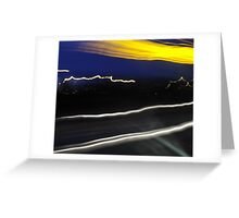 the blond in the convertible Greeting Card