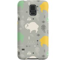 Seamless pattern with cute baby buffaloes and native American symbols Samsung Galaxy Case/Skin