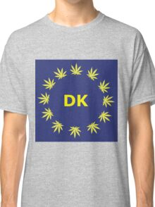 Danish Marijuana Flag Classic T-Shirt