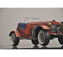 Vintage Red Sports car Photographic Print
