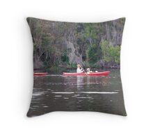 Kayaking on the St. Johns Throw Pillow