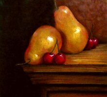 Still Life - Pears & Cherries by Andy Liberto