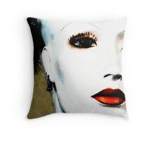 white woman Throw Pillow