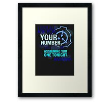 What's your (item) number Framed Print