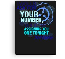 What's your (item) number Canvas Print