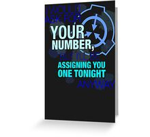 What's your (item) number Greeting Card