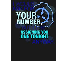 What's your (item) number Photographic Print