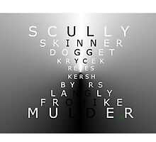 x-files - chracters Photographic Print