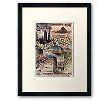 Gustave Fraipont Affiche Ouest Normandie Bretagne Jersey Framed Print
