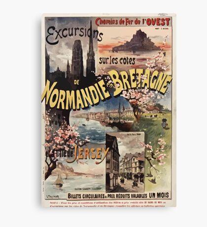 Gustave Fraipont Affiche Ouest Normandie Bretagne Jersey Canvas Print