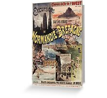 Gustave Fraipont Affiche Ouest Normandie Bretagne Jersey Greeting Card