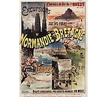 Gustave Fraipont Affiche Ouest Normandie Bretagne Jersey Photographic Print