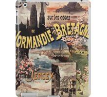 Gustave Fraipont Affiche Ouest Normandie Bretagne Jersey iPad Case/Skin