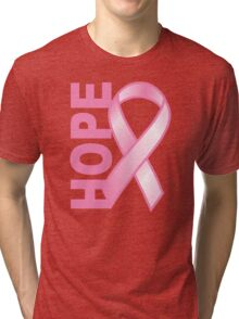 Hope Cancer Ribbon Tri-blend T-Shirt