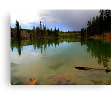 Crystal Mirror Lake Canvas Print