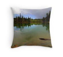 Crystal Mirror Lake Throw Pillow