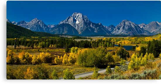 Mount Moran and the Snake River, Wyoming by ayresphoto