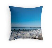 Northern Blues Throw Pillow