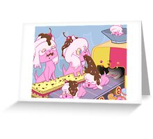The Birth of the Mystical Dog Cakes Greeting Card