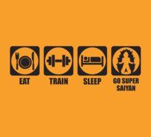 Eat, Train, Sleep, Go Super Saiyan by oolongtees