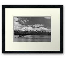 Lake Nahuel Huapi, Patagonia, Argentina (Black & white) Framed Print