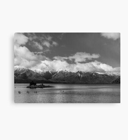 Lake Nahuel Huapi, Patagonia, Argentina (Black & white) Canvas Print