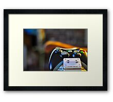 Get a handle on the game Framed Print