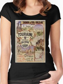 Gustave Fraipont Affiche PO Touraine & châteaux Women's Fitted Scoop T-Shirt