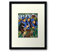 NED TAKEN BY THE TRAPS 1880 Framed Print