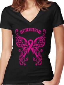 Survivor Women's Fitted V-Neck T-Shirt