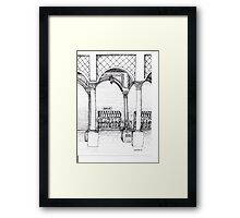 Le Venuer de Fluers Framed Print
