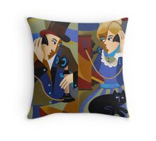 I WON'T BE LATE Throw Pillow