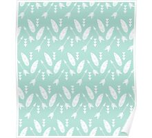 Bohemian feathers and arrows Poster