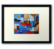 ESCAPE FROM SARAH ISLAND Framed Print
