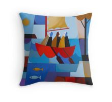 ESCAPE FROM SARAH ISLAND Throw Pillow