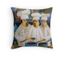 THE APPRENTICE CHEFS Throw Pillow
