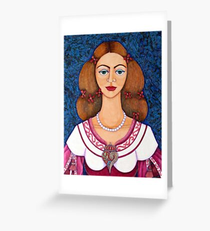 Ines de Castro Greeting Card