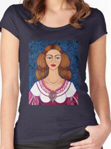Ines de Castro Women's Fitted Scoop T-Shirt