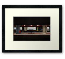 Deserted Train Station Framed Print