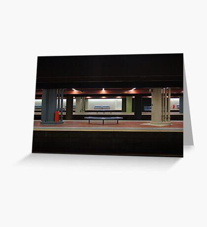 Deserted Train Station Greeting Card