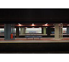 Deserted Train Station Photographic Print