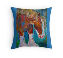 Barney's Day Off Throw Pillow