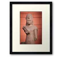 Statue at Cairo museum, Egypt Framed Print