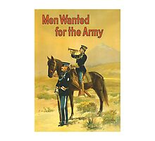 Men Wanted For The Army -- WWI Photographic Print