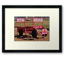 a childs fire engine Framed Print
