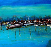 Marina, Yamba NSW Australia by Margaret Morgan (Watkins)