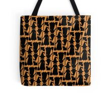 Witch silhouette pattern Tote Bag