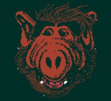 Alf in pixels by loogyhead