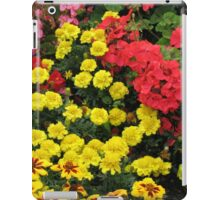 Red Geraniums and Yellow Marigolds iPad Case/Skin